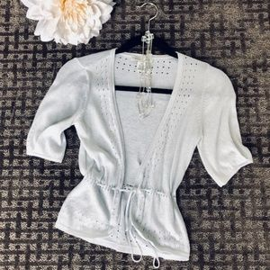 🌸Classy lightweight sparkly silver sweater